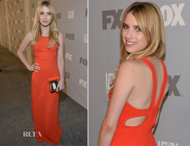 Emma Roberts In Stella McCartney - FOX Broadcasting Company, Twentieth Century FOX Television and FX Post Emmy Party