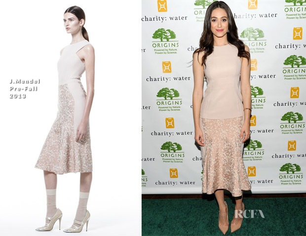 Emmy Rossum In J Mendel - Origins' Smarty Plants Event