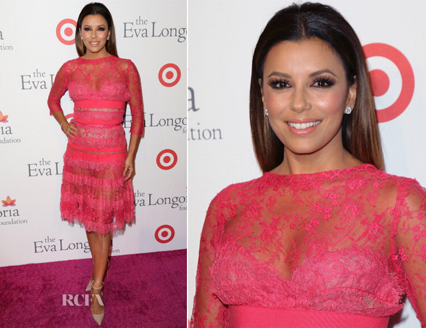 Eva Longoria In Elie Saab - Eva Longoria Foundation Dinner
