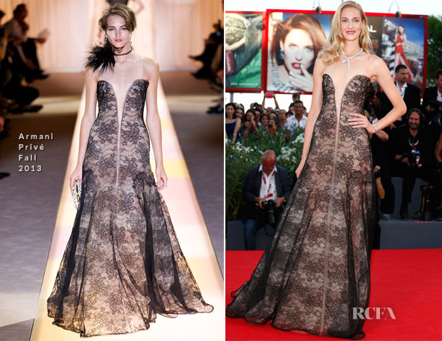 Eva Riccobono In Armani Privé - 2013 Venice Film Festival Closing Ceremony