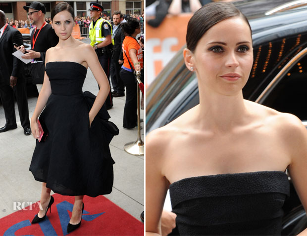 Felicity Jones In Christian Dior - 'The Invisible Woman' Toronto Film Festival Premiere
