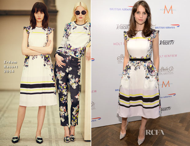 Felicity Jones In Erdem - Variety Studio At Holt Renfrew