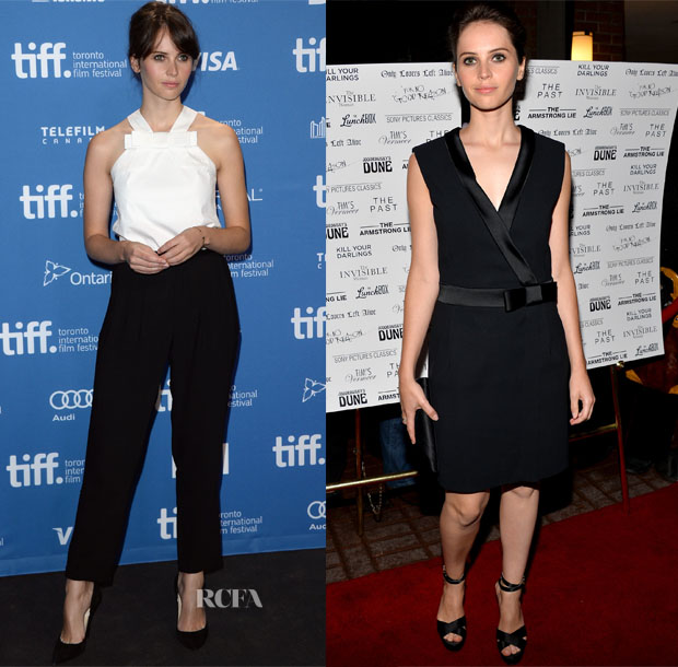 Felicity Jones In Viktor & Rolf - 'The Invisible Woman' Toronto Film Festival Press Conference & Premiere