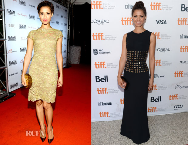 Gugu Mbatha-Raw In Reem Acra & Burberry Prorsum - 2013 Toronto International Film Festival