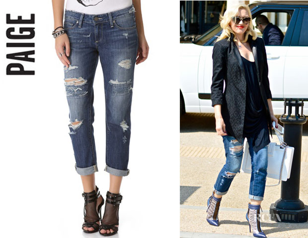 Gwen Stefani's Paige Denim 'James' Cropped Jeans
