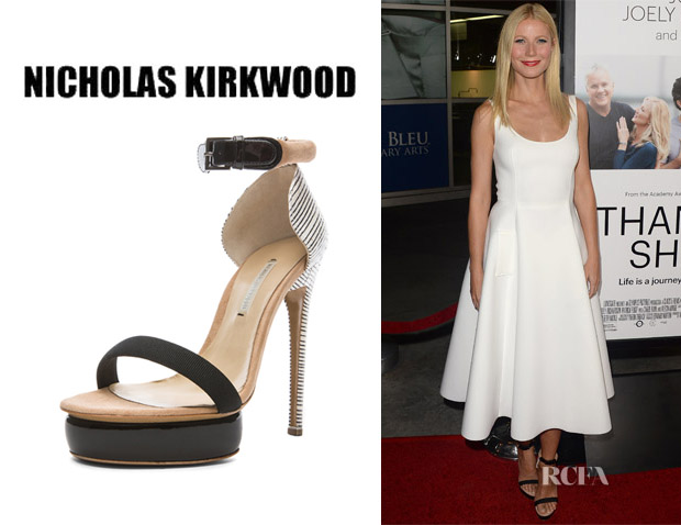 Gwyneth Paltrow's Nicholas Kirkwood Stacked Heels
