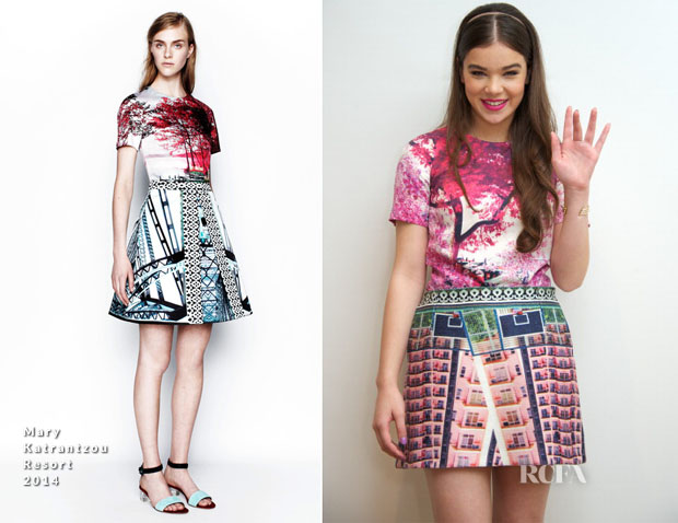 Hailee Steinfeld In Mary Katrantzou - 'Romeo And Juliet' Press Conference