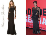 Halle Berry's Monique Lhuillier Long Sleeve Gown