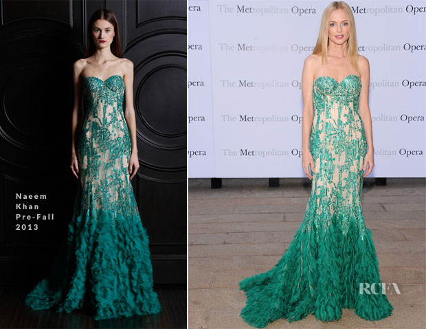 Heather Graham In Naeem Khan - Metropolitan Opera Season Opening Production Of 'Eugene Onegin'