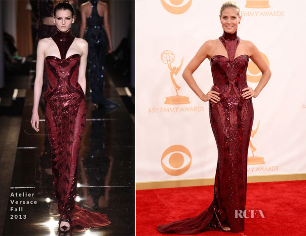 Heidi Klum In Atelier Versace - 2013 Emmy Awards
