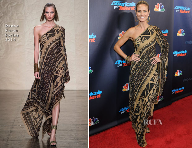 Heidi Klum In Donna Karan America S Got Talent Season 8 Post Show Finale Red Carpet Fashion Awards
