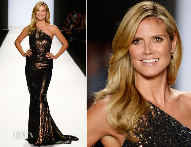 Heidi Klum in Max Azria Atelier - Project Runway Spring 2014 Fashion Show