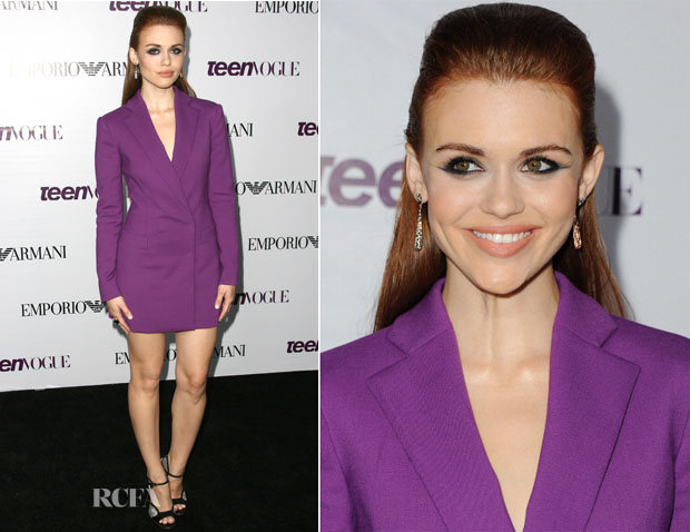 Holland Roden In Emporio Armani - 2013 Teen Vogue Young Hollywood Party