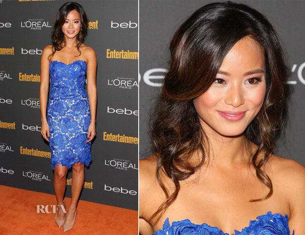 Jamie Chung In Oliver Tolentino - Entertainment Weekly Pre-Emmy Party