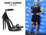 Jennifer Aniston's Saint Laurent 'Jane' Leather Sandals