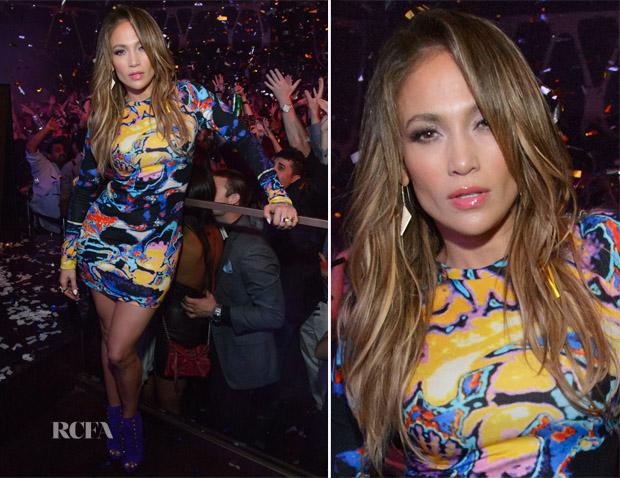 Jennifer Lopez In Christopher Kane - Hakkasan Las Vegas