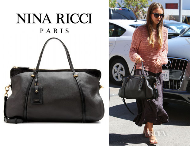 Jessica Alba's Nina Ricci Leather Satchel