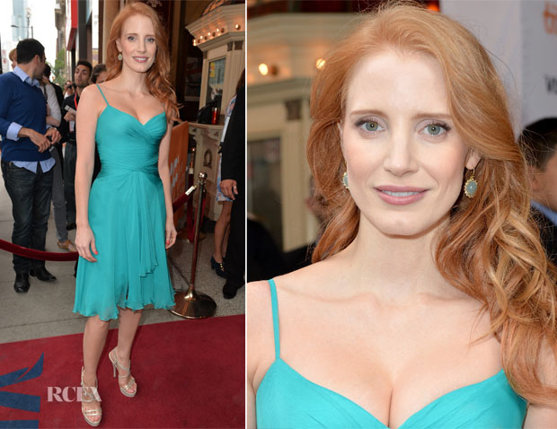 Jessica Chastain In Atelier Versace - 'The Disappearance Of Eleanor Rigby Him And Her' Toronto Film Festival Premiere