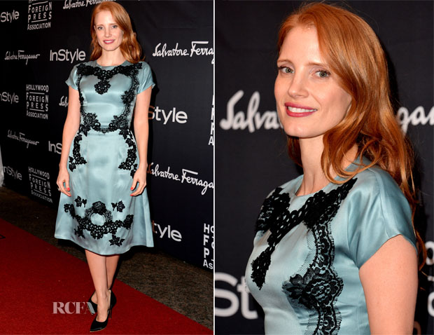 Jessica Chastain In Dolce & Gabbana - TIFF HFPA InStyle Party