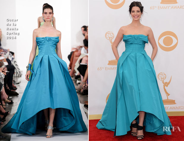 Jessica Pare In Oscar de la Renta - 2013 Emmy Awards