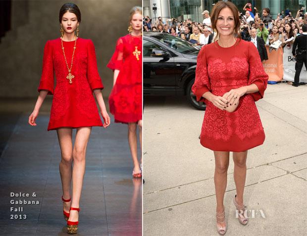 Julia Roberts Dolce & Gabbana Toronto