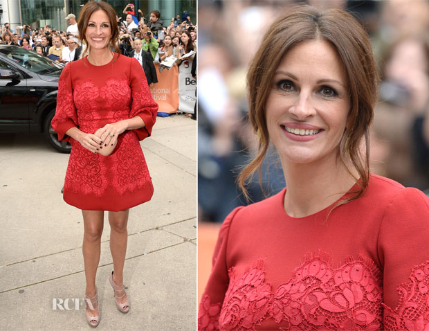 Julia Roberts In Dolce & Gabbana - 'August Osage County' Toronto Film Festival Premiere