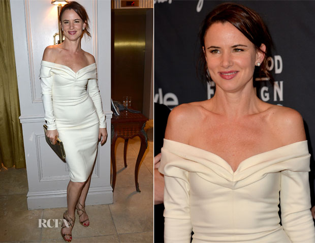 Juliette Lewis In Wes Gordon - TIFF HFPAInStyle Party