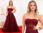 Kaley Cuoco In Vera Wang - 2013 Emmy Awards