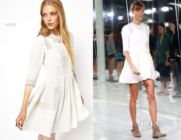 Karlie Kloss In ASOS -  Prabal Gurung Fashion Show Run-Through