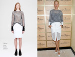 Karolina Kurkova In Dion Lee - 2013 US Open