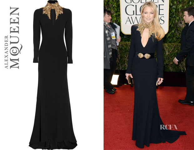 Kate Hudson's Alexander McQueen Embellished Cut Out Gown