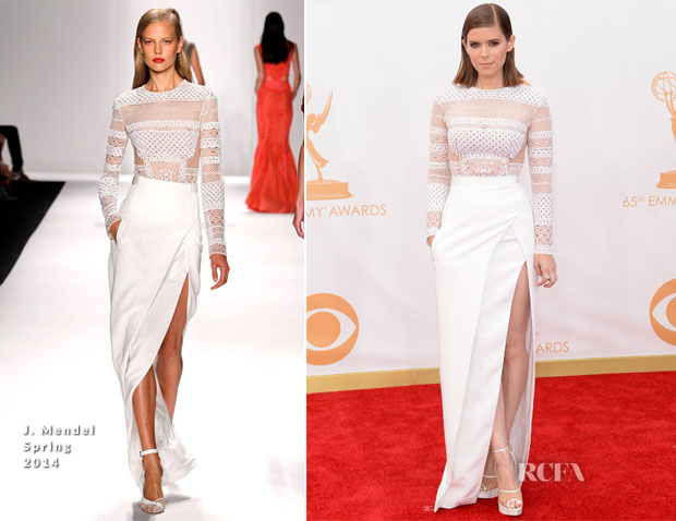 Kate Mara In J Mendel - 2013 Emmy Awards