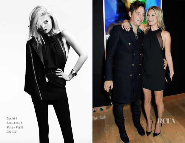 Kate Moss & Jamie Hince In Saint Laurent - 'Kate Moss The Collection' Private Viewing