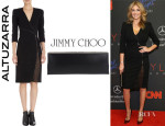 Kate Upton's Altuzarra 'Walker' Dress And Jimmy Choo 'Ciggy' Clutch