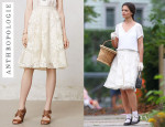 Katie Holmes' Anthropologie 'Emeline' Tulle Skirt