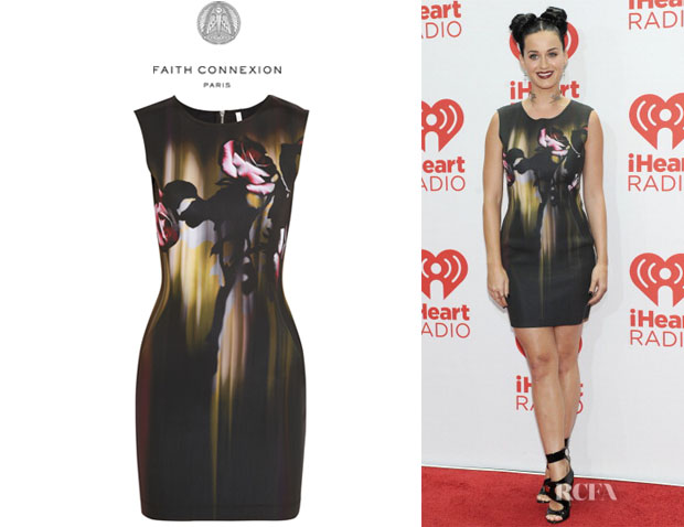 Katy Perry's Faith Connexion Rose-Print Neoprene Dress
