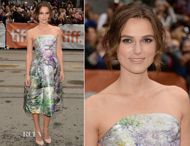 Keira Knightley In Mary Katrantzou - 'Can A Song Save Your Life' Toronto Film Festival Premiere