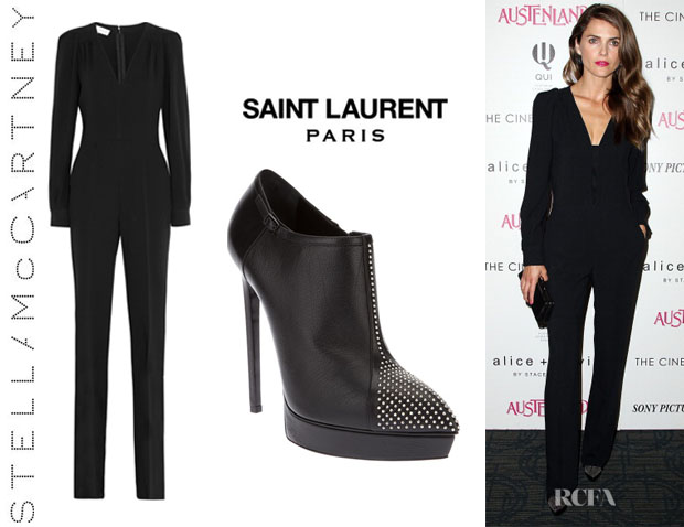 Keri Russell's Stella McCartney 'Ofelia' Jumpsuit And Saint Laurent 'Janis' Studded Booties