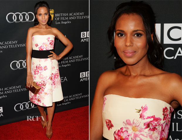 Kerry Washington In Giambattista Valli - BAFTA LA TV Tea 2013