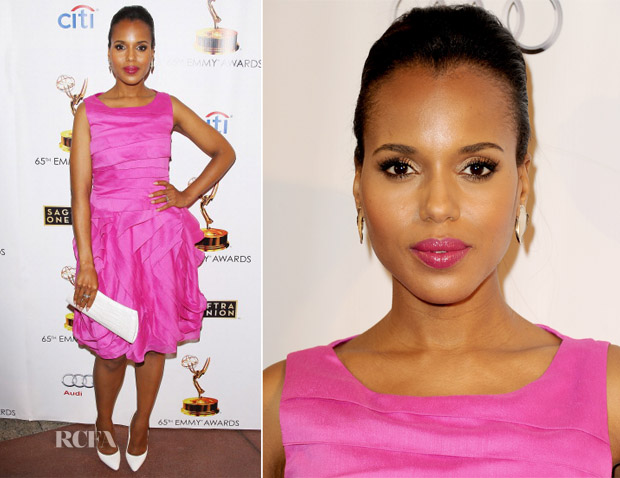 Kerry Washington In Halston Heritage - Academy of Television Arts & Sciences and SAG-AFTRA Celebrations of the Emmy Award Nominees