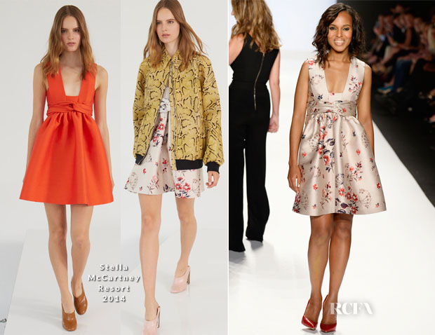 Kerry Washington In Stella McCartney - Project Runway Spring 2014 Fashion Show