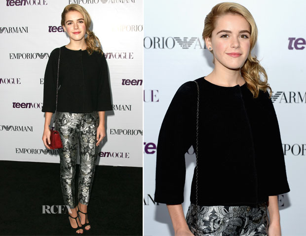 Kiernan Shipka In Emporio Armani - 2013 Teen Vogue Young Hollywood Party