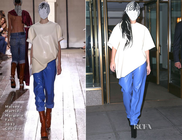 Lady Gaga In Maison Martin Margiela Couture - Out In New York City