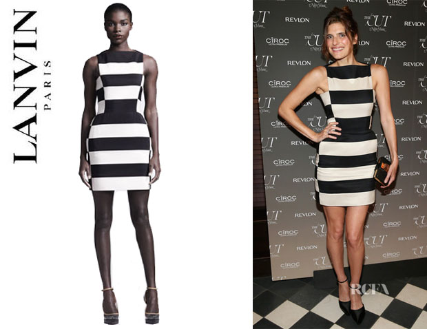 Lake Bell's Lanvin Striped Dress