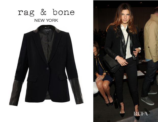 Lake Bell's Rag & Bone Leather Trimmed Blazer