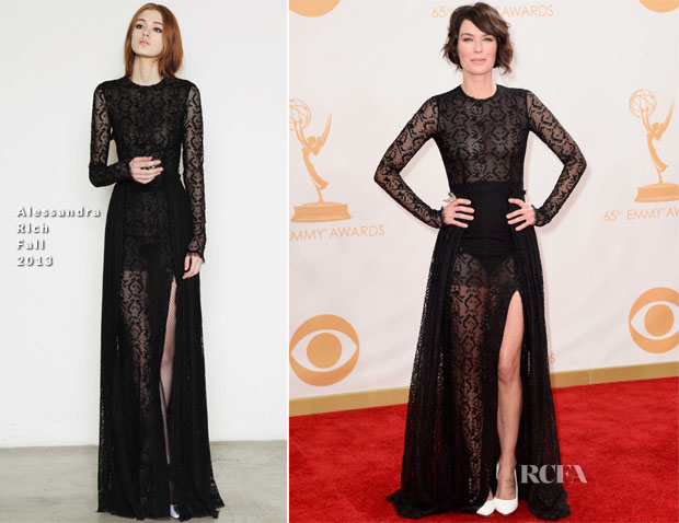Lena Headey In Alessandra Rich - 2013 Emmy Awards