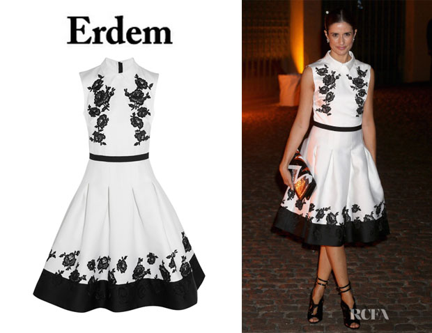 Livia Firth's Erdem 'Macey' Embroidered Dress