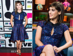 Lizzy Caplan In Timo Weiland – 'Watch What Happens Live'