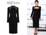 Maggie Gyllenhaal's Alexander McQueen Crystal And Faux Pearl Embroidered Dress