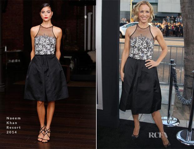 Maria Bello In Naeem Khan - 'Prisoners' LA Premiere